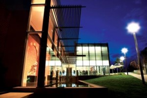 Bendigo Gallery Cafe at night